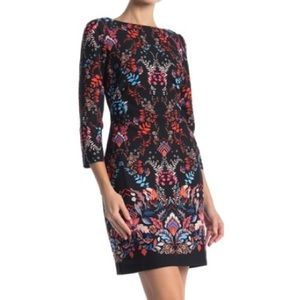 NWT Vince Camuto Navy Floral Print Dress